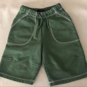 Mini Boden Knit Green Shorts Size 3-4 VGUC